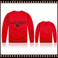 1 PC long sleeve sweatshirts men leisure hoodies cotton shirts Basketball football hip pop Last Kings sweatshirt do free ship