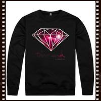 Free Shipping Stock Diamond Brand diamond supply co crewneck fleece lined hoodie sweatshirt coats for men