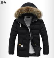 TUML14186 2014 New  fur collar plus size down jacket men,parka men,warm winter jacket men,with plus size 4xl free shipping