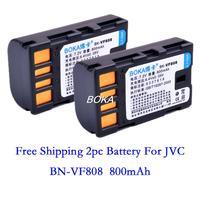 2PC 7.2V 800mAh BN-VF808U VF808U rechargeable batteries VF808 Camera Battery for JVC BN VF815 VF815JP VF815U VF815US VF815USM