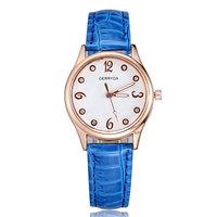 Hot sale dropship wholesale 2014 rose gold wristwatches quartz analog watch leather bracelet for women ladies girls best gift