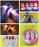 100Pairs/lot Generation 4 Party Flashing Shoelaces Dance Hip Hop LED Shoelaces Free shipping
