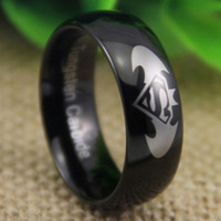 Free Shipping USA UK CANADA RUSSIA Brazil Hot Selling 8MM Batman&Superman The Lord Black Dome New Men's Tungsten Wedding Ring