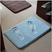2014 High Quality Slow rebound memory foam mats waste-absorbing slip-resistant bath mat coral fleece mat doormat carpet ej871204(China (Mainland))