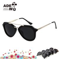 Newest Fashion Vintage Aviator Sunglasses Women All Black Lens Gradient Aviador Sun Glasses oculos de sol feminino