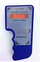 Frequency Tester Wireless RF Portable Frequency Meter with infrared Scanner Counter Wavemeter 250MHz-450MHz