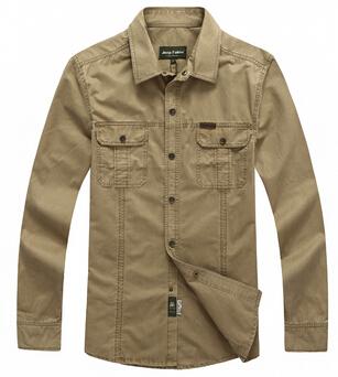 Military brand shirt, Men's 100% cotton casual long-sleeve shirt, plus size M-5XL(China (Mainland))