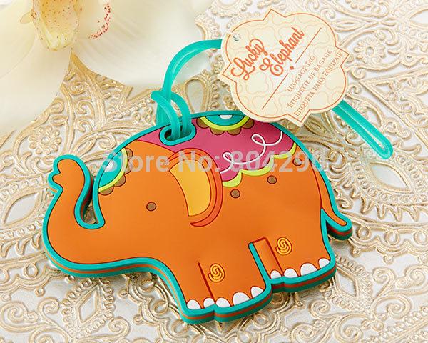 Elephant Wedding Favors Elephant Luggage Tag Favors