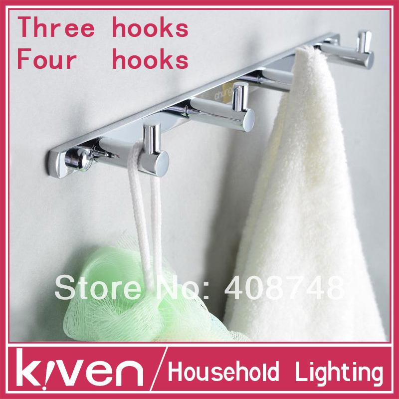 Cloth Hook Towel Hook Door Hook Sanitary Hardware Bedroom Solid Brass Chrome finish Bathroom Hook Free Shiping(China (Mainland))
