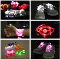 5Pairs/lot Generation 5 Nylon Glow Party Flashing Shoelaces Multifunction Light UP Wristbands Armbands Free shipping