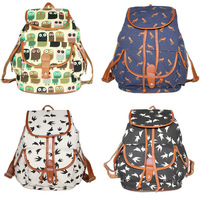 New Arrival Hot Canvas Printing Tide Bags Backpacks Fashion Accessories Drop Shipping BG-0429
