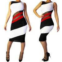 2014 Sexy Womens Sleeveless Slim Bodycon Party Cocktail Clubwear Dress S5M