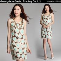 Wholesale Green Sequin Dot Circle Beading Short Summer Dresses for Women Girls Novelty Bling Bling Party Vestidos Beige QBD262