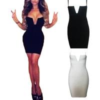Womens Lady Sexy Slim Fit Club Bandage Dress Clubwear Evening Dress S5M