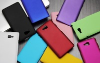 10 colors Polished Plastic Rubber Smooth Plastic Hard Case Cover Shell for LG Optimus L9 II D605