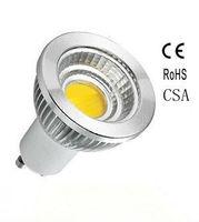 100pcs/lot  AC120 dimmable CSA gu10 5w cob led spotlight