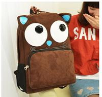 Cartoon cute little monster shoulder bag student backpack bag men and women