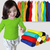 Min. Qty any 2pcs in my shop pls Size 100~140 Autumn candy Child Tops tees boys girls Long Sleeves T shirt  Children T-Shirts