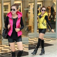 2014 Brand Winter Coat Women Girl Students Vest Coat Casual Gift Parka Short New Down Jacket L-XXL YY0612