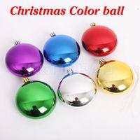 6 pcs/lot Xmas flat ball 8 cm size colorful ball Christmas decoration gift suitable for Christmas celebration display