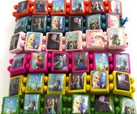 Wholesale New Arrival 24 pcs PSY Oppa Gangnam Style Fashion 6 Colors Mix Wood Stretch bracelets