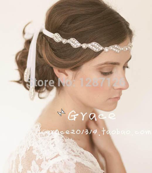 free shipping 2015 Fashion Glass Crystal Rhinestone Sparkling Bridal Headband Bridal Accessory Prom Hair Accessory wedding