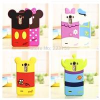 3D cute Minnie Mickey winnie bear Donald Duck Soft Silicon cartoon Case Covers For LG G3 mini D722 D725 D728 D724 Free Shipping