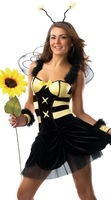 2014 New summer  arrival casual party sexy bodycon  lace Cosplay bees Christmas hot performing uniform club mini  Costumes