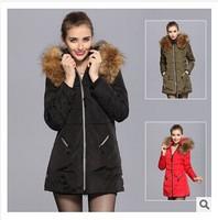 New Arrival 2014 Winter Women Long Jackets Down Coat Fur Fashion Warm Hooded Plus Size long down parka Outerwear overwear m-4XL