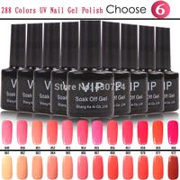 Choose Any 6pcs  Color Gel Polish From New Hot 288 Colors Glue,10ml UV/Led Lamp Primer Gel Nail Polish Shellac Varnish Lacquer