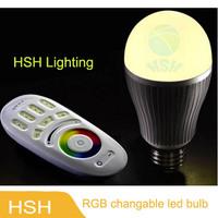 AC85-265V 9W RGBW led lighting Colorful LED Bulb Lamp Spot light with Remote Control 10pcs/lot