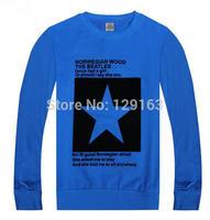 2014 Autumn New Men's O-Neck Pullover Hoodies Fashion Letter Star Print Hoody Male Plus Size Sports Sweatshirts Men M-4XL 584
