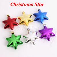 6 pcs/lot Christmas five-pointed star ball 9 cm colorful ball Christmas decoration gift for Christmas celebration display