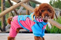 Dog Cat Cartoon Vest Motorcyclist four feet fleece Puppy Cap Hoodie Winter Cotton Clothes T Shirt Pet Apparel Costume GY13 XXS-L