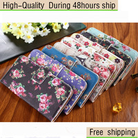 High Quality Flower Cross Pattern Colored Drawing Stand Function Case For HTC One M8 Free Shipping CPAM HKPAM