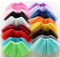 13 colors candy color kids tutus skirt dance dresses soft tutu dress ballet skirt 3 layers children pettiskirt clothes