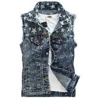 2014 New  jean vest us flag snow spots denim vest motorcycle jeans jacket sleevess  men&women wholesale snowflakes Jeans vests