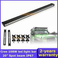 "39.17"" Cree LED Work Light 108W 12V/24V ATV 36X3W 4X4 AWD Wagon Spot Beam Truck Car 4WD Driving Offroad Light bar Van 10800lm"