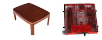 Free shipping KT105-6  Floor sitting furniture kotatsu coffee table  rectangle 105cm japanese coffee table with heater