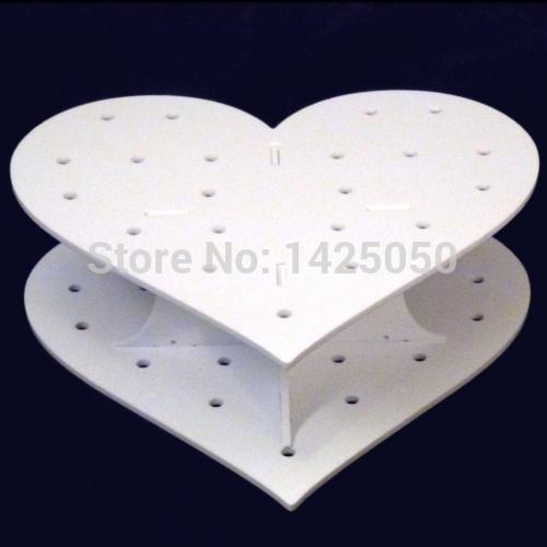 White Heart Shape 4mm Thicnkess Acrylic Cake Pop Display Holder(China (Mainland))