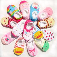 Cute Unisex Baby Kids Toddler Girl Boy Anti-Slip cartoon short Socks Shoes Slipper baby wear baby socks 10pairs !