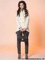 Free shipping hot sale 2014 Fashion Desigual Women Woolen Coat Autumn Casual Double Breasted Coat dress wholesale