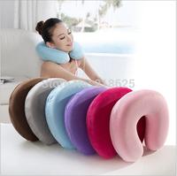 Free Shipping New 2014 100% Bamboo Fiber Memory Neck U Pillow Travel Pillow Body Pillow decorative pillow covers business trip