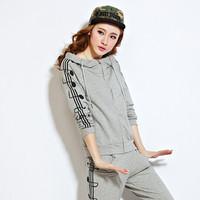 New 2014 Autumn Winter Sports Set (Hoodies+Pants) 2Pcs/Set, Brand Leisure Sportwear Suit,Printed Sweatshirts With Hood Feminine