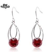 Double Circle Oval Dangle Earring Hot Selling Fashion Drop Earring for Women ZC214ER