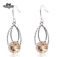 Champagne Crystal Zircon Dangle Earring Women Fashion Wedding Earring ZC210ER