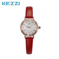 Women Quartz Dress Watches Leather Strap Alloy Case Analog Dial Display Ladies Fashion Csual Water Resistant Wristwatches K770