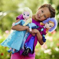 2pcs/set 40CM Frozen Plush Toys 2014 New Princess Elsa plush Anna Plush Doll Brinquedos Kids Dolls for Girls