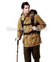2015 Camel Spring and Autumn Camping Hiking Men Jacket Outdoor jacket Sportswear Hooded Plus Velvet Waterproof Outerwear
