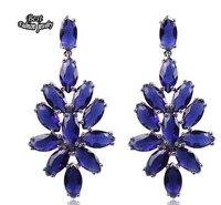 Sapphire Dangle Earring Women Fashion Long Drop Earring Fashion Jewelry ZC216ER